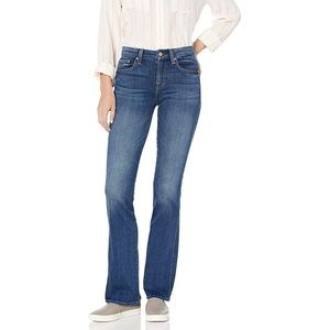 7 FOR ALL MANKIND Blue Bootcut Jeans